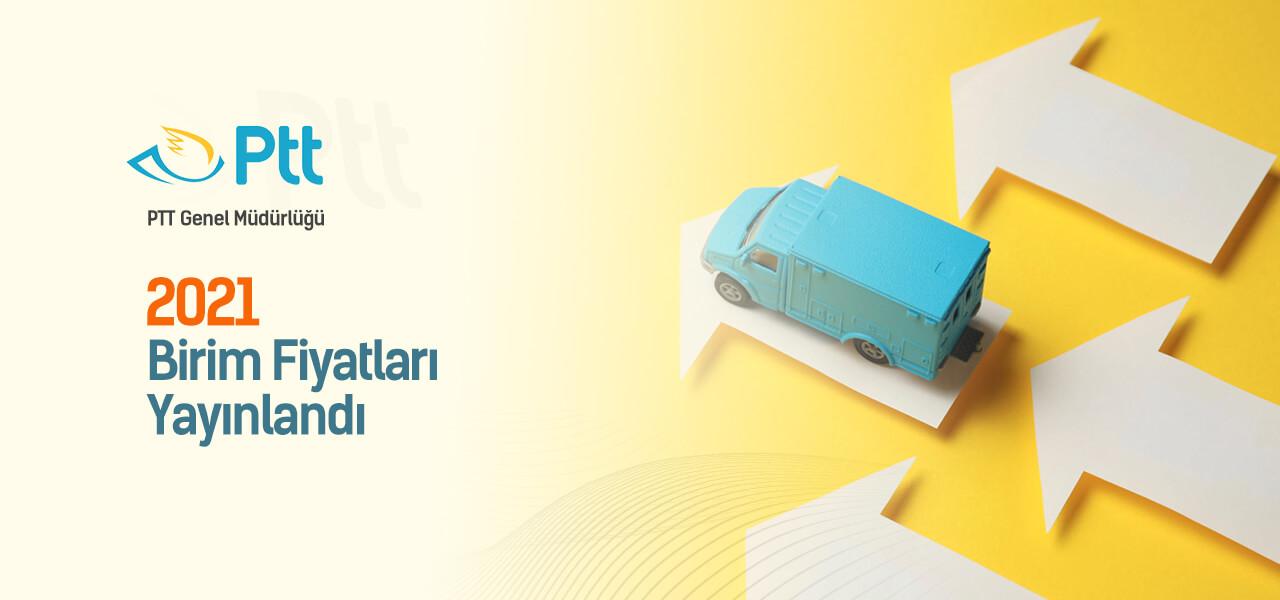 PTT 2021 Birim fiyatları yayınlandı ve AMP'de kullanıma hazır