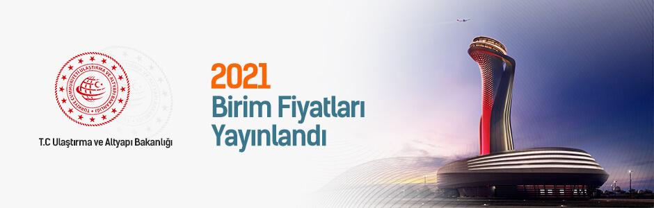 Ulaştırma ve Altyapı Bakanlığı Limanlar ve Deniz İnşaatı 2021 Birim Fiyatları Yayınlandı