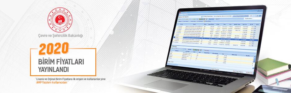ÇŞB 2020 Birim Fiyatları Yayınlandı ve AMP'de kullanıma hazır!