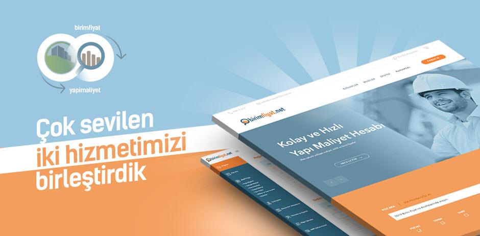 Yapımaliyet.com ve Birimfiyat.net sitelerimiz birleşti