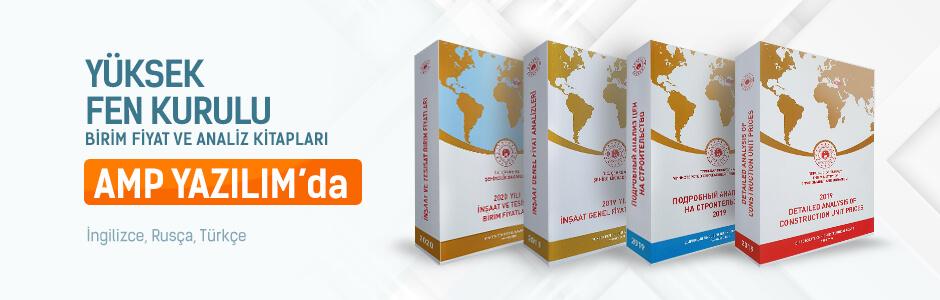 Çevre ve Şehircilik Bakanlığı (ÇŞB) Birim Fiyat ve Analiz Kitapları İngilizce, Rusça ve Türkçe
